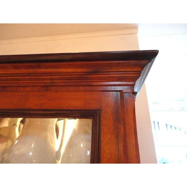 Brown Fantastic 19thc Two Piece Walnut Stepback Wall Cupboard For Sale - Image 8 of 9