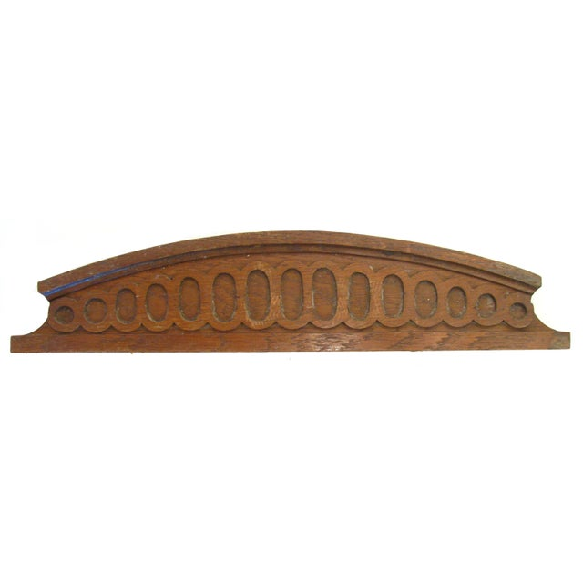 French Architectural Carved Wooden Element - Image 1 of 3