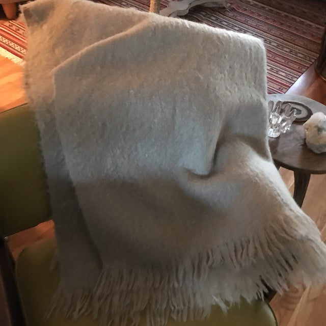 Australian Mohair Fringed Throw - Image 7 of 9