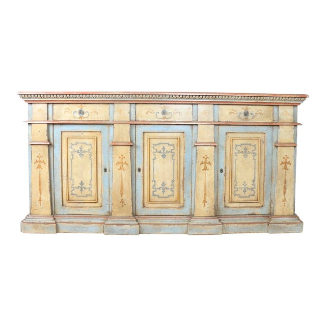 1970s Hand Painted Italian Cabinet For Sale