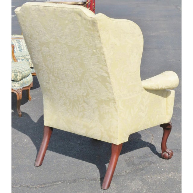 Kindel Winterthal Ball & Claw Wing Chair For Sale - Image 5 of 5