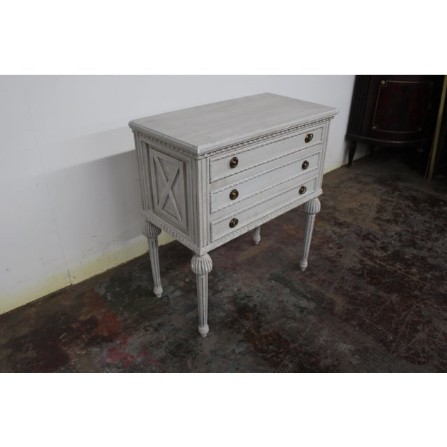 Mid 20th Century 20th Century Swedish Gustavian Style Nightstands-A Pair For Sale - Image 5 of 8
