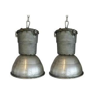 Vintage Smudge Pots Pendants Lights - Pair