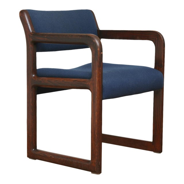 Vintage 1970s Mid-Century Modern Wooden Chair For Sale