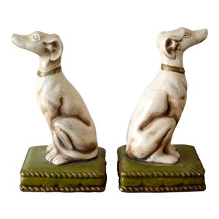 1930s Vintage Borzoi Bookends - a Pair For Sale