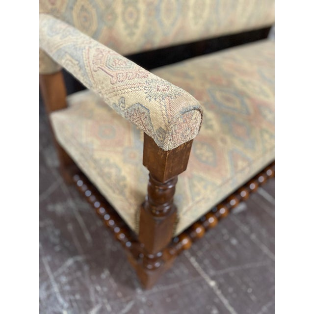 French Antique French Upholstered Bench For Sale - Image 3 of 6
