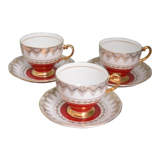 English Cups & Saucers - Set of Three For Sale