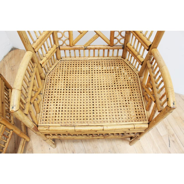 1970s A Pair of Bamboo Brighton Pavilion Chairs - Chinese Chippendale For Sale - Image 5 of 10