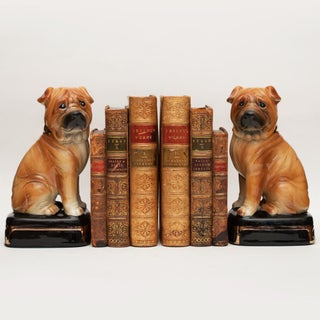 1970s Japanese Porcelain Shar-Pei Dog Bookends - a Pair Preview