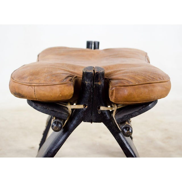 1950s Vintage Egyptian Camel Saddle Stool For Sale - Image 5 of 13