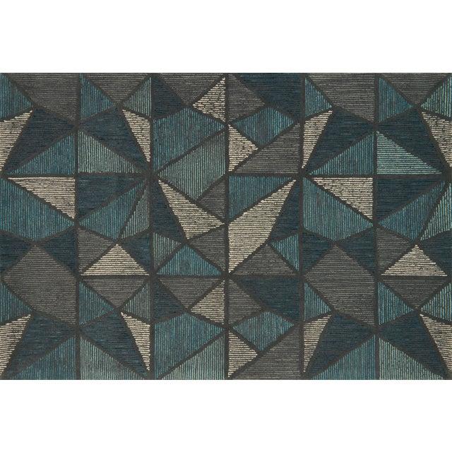 """Contemporary Justina Blakeney X Loloi Rugs Gemology Rug, Teal / Gray - 3'6""""x5'6"""" For Sale - Image 3 of 3"""