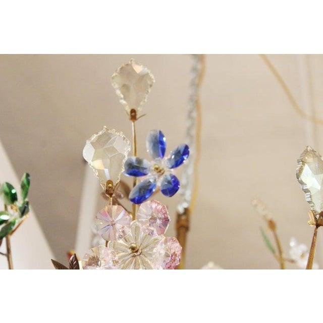 1970s Italian Mid-Century Modern Murano Glass Flower Bouquet Chandelier For Sale - Image 12 of 13