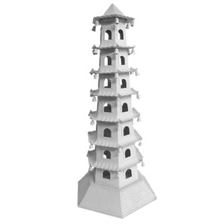 1970s Chinoiserie Brighton 7 Level Tole Pagoda With Bells For Sale
