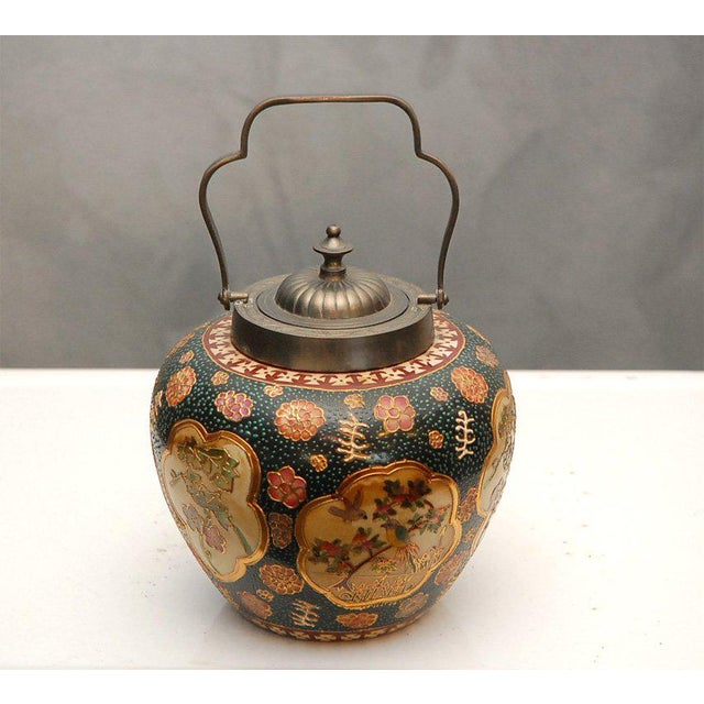Satsuma Biscuit Barrel with Lid For Sale - Image 4 of 10