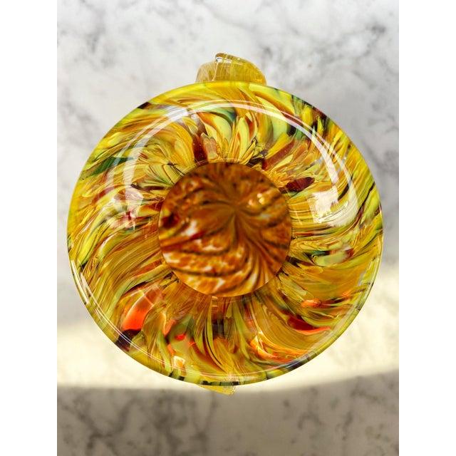Murano 1960s Murano Swirl Glass Vase With Handles For Sale - Image 4 of 7