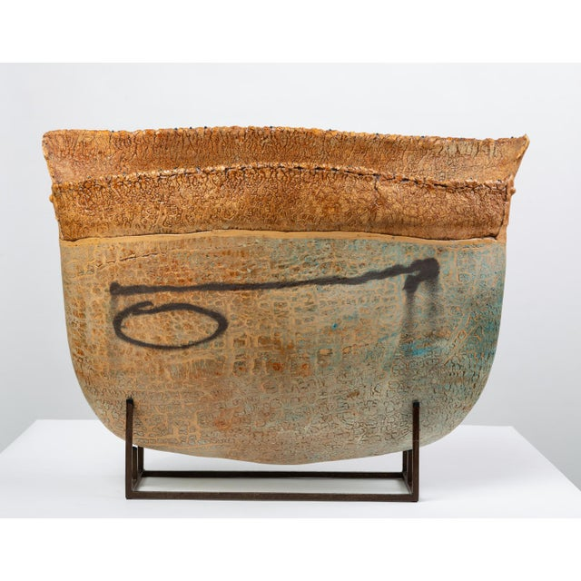 Ceramic Art Vessel With Mount by Jim Kraft For Sale - Image 12 of 12