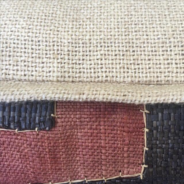 African Kuba Cloth Pillows - A Pair - Image 4 of 5