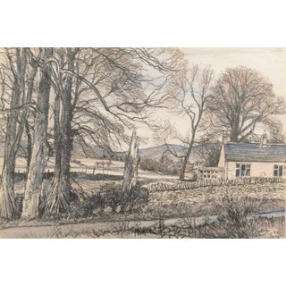 'Windy Day Fallows, Angus', 1982 by James McIntosh Patrick, Dundee, Scotland, Royal Society of Arts, Paris For Sale