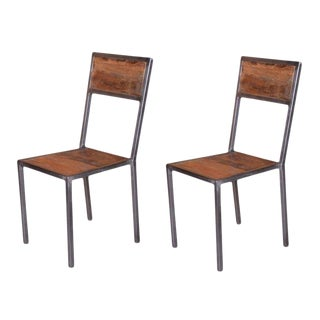 Heurich Vintage Dining Chair -Set of 2, Wooden Home Furniture, Living Room, Dining Room, Rustic Look - Brown, Natural For Sale