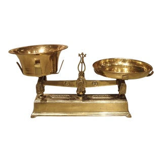 19th Century 5 Kilogram Iron and Brass Scale From France For Sale