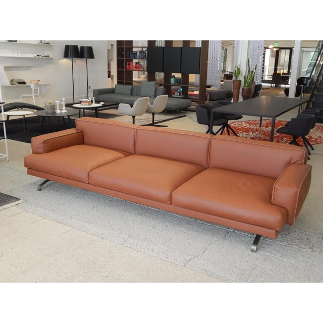 Gordon Guillaumier Lema 'Mustique' Leather Sofa - Image 3 of 9