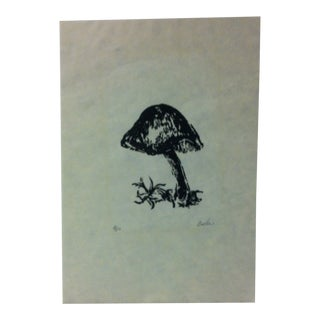 """Limited Edition Signed Numbered (2/50) Print, """"Mushroom"""" by Carla For Sale"""