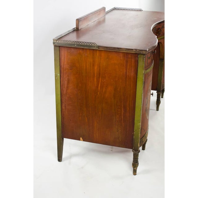 Mid 19th Century Vintage French Provincial Hand Painted Writing Desk For Sale - Image 11 of 13