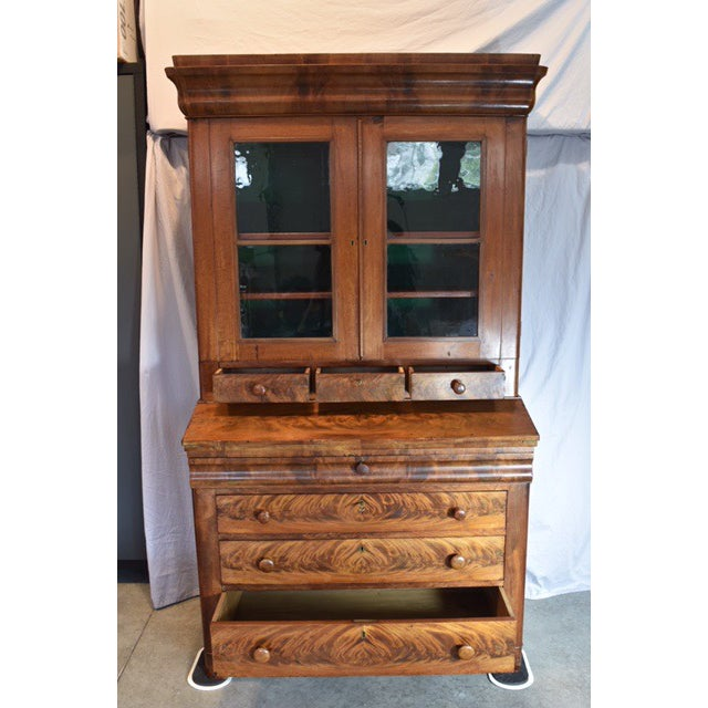 Traditional 18th Century Antique Writing Cupboard For Sale - Image 3 of 11