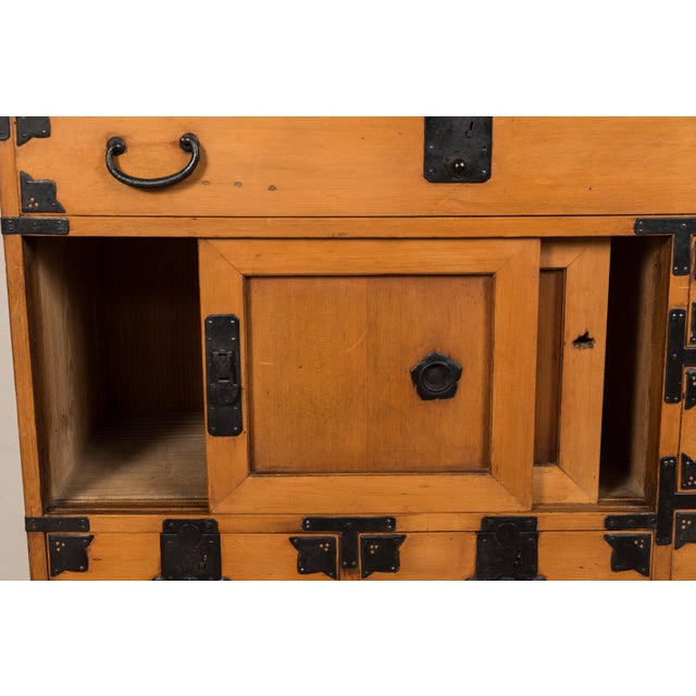 Antique Japanese Merchant's Chest For Sale - Image 4 of 10