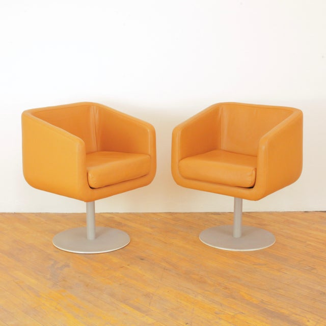 Late 20th Century Loewenstein Cube Swivel Chairs - a Pair For Sale - Image 11 of 11