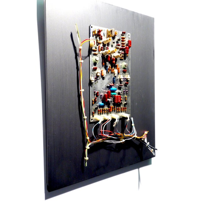 Mid Century Component Art Vintage Circuitry Wall Sculpture / Collage. Bill Reiter For Sale - Image 9 of 13