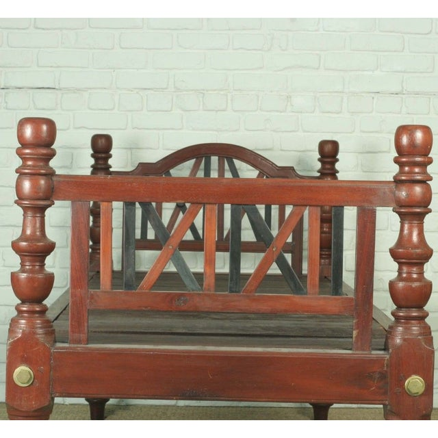 Antique Indian Daybed or Twin Bed - Image 2 of 3