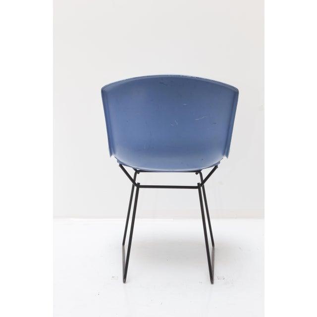 Knoll Bertoia Fiberglass Side Chair Blue - Image 4 of 11