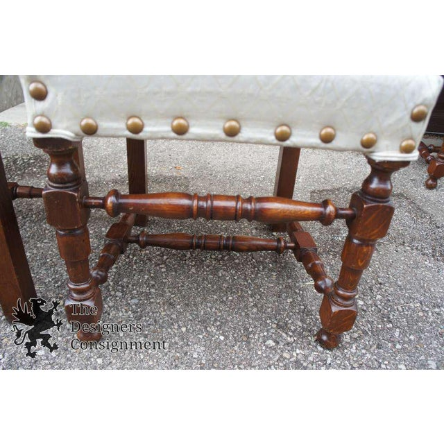 Early 20th Century Vintage Jacobean Spanish Style Dining Chairs- Set of 6 For Sale - Image 10 of 13