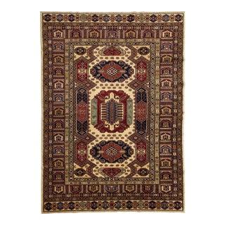 Caucasian Shirvan Wool Handmade Area Rug - 6'0 X 8'9 For Sale