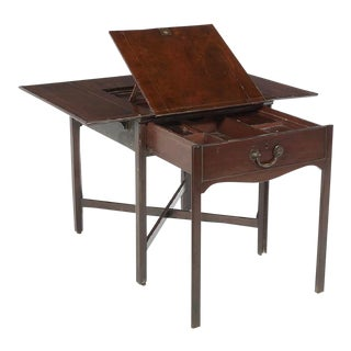 18th Century Georgian Period Mahogany Architects Table For Sale