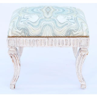 Painted Neoclassical Stool With Crown Seat Preview