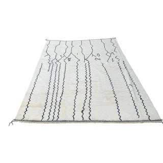 Wool Moroccan Shag Rug - 10′ × 14′ For Sale