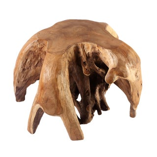 Nature Teak Root Accent Stool For Sale