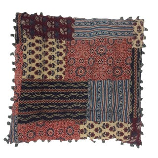 Bohemian Blockprinted Patchwork Yoga Pillow