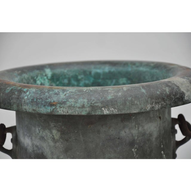 Mid 19th Century 19th Century Pair of Verdigris Vessels From France For Sale - Image 5 of 11