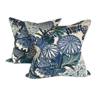 Schumacher Chaing Mai Linen Pillows - A Pair