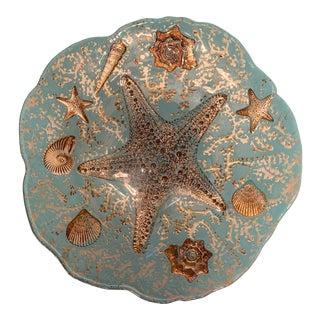 Contemporary Seaside Decorative Platter For Sale