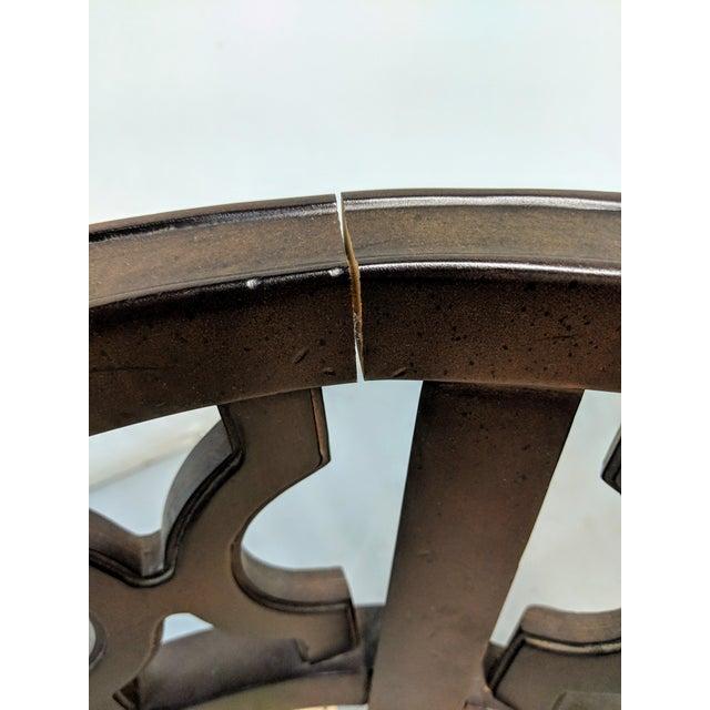 1970s Vintage Hollywood Regency Lattice Barrel Back Lounge Chair For Sale - Image 11 of 13