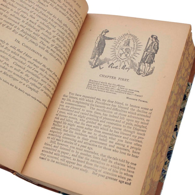 Late 19th Century English Leather Bound Books, Scott Waverly Novels Circa 1880s, Set of 10 For Sale - Image 5 of 9
