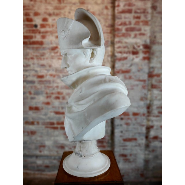 19th Century Napoleon Bonaparte Emperor 19th Century Marble Bust Hand Carved Carrara Marble Bust of Napoleon For Sale - Image 5 of 12