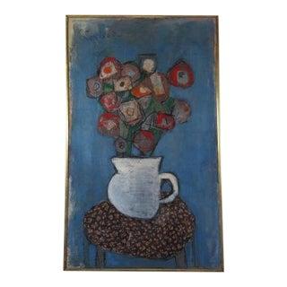 1960s Vintage Sheldon Levinson Still Life Painting For Sale