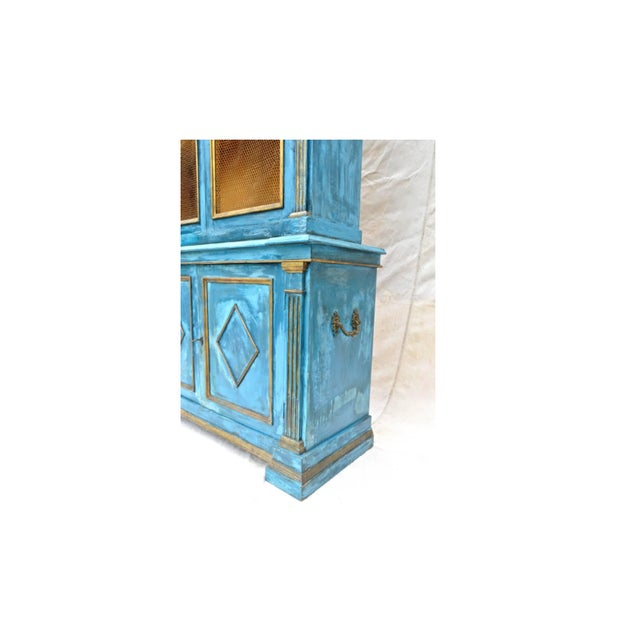 Mediterranean Blue Italian Cupboard | Chairish