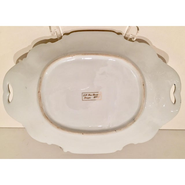 20th C. French Sevres Limoges Style Cobalt & Gold Tray & Box - Image 10 of 11