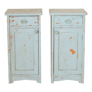 Antique Rustic Nightstands-a Pair For Sale